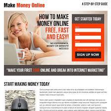 make money online responsive landing page design templates