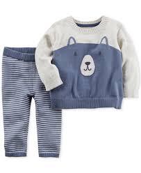 s 2 pc cotton sweater set baby boys 0 24