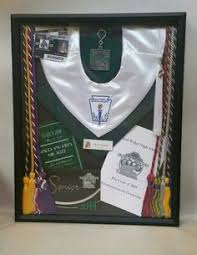 graduation shadow box cap and gown graduation shadow box with cords cap invitations program tassel