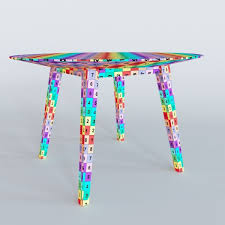 risom round dining table 3d design cgtrader