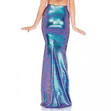 iridescent scale mermaid maxi skirt festival costume cosplay
