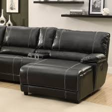 Modern Black Leather Sofas Black Leather Reclining Sofa With Console Tehranmix Decoration