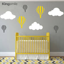 online get cheap hot air balloons clouds aliexpress com alibaba modern hot air balloons clouds nursery wall stickers vinyl wall art decals baby children bedroom decorations