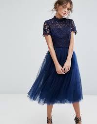 chi chi london chi chi london high neck lace midi dress with