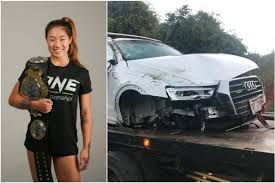 mma one star angela lee suffers concussion in car accident will