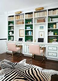 computer desk with shelves white white desk with bookshelves killer color combo emerald blush pink