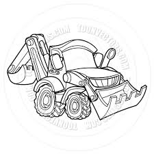 cartoon vehicle bulldozer digger by geoimages toon vectors eps