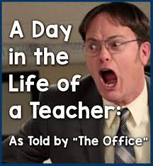 The Office Memes - a day in the life of a teacher as told by the office bored