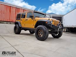 jeep snorkel exhaust jeep wrangler with 20in fuel vapor wheels butler tire jeeps