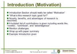 writing introduction to research paper robert s laramee 1 how to write a visualization research paper a 6 robert