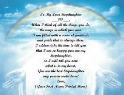 christmas birthday gift for stepdaughter personalized poem gift