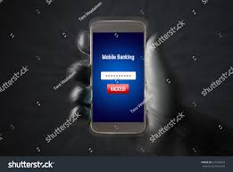 mobile banking hack cyber security concept stock photo 672105643