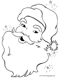 christmas face happy santa claus coloring