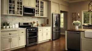 off white kitchen cabinets with stainless appliances kitchens with slate appliances slate finish appliances with