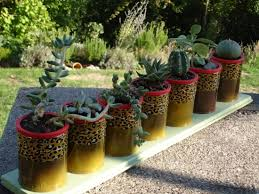 Craft Ideas For The Garden 20 Tin Can Craft Ideas Flower Vases And Plant Pots