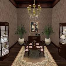 Queen Anne Dining Room Furniture by Second Life Marketplace Special Sale Price Menu Driven Dining