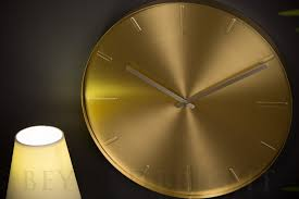 karlsson belt wall clock 40cm brass plated modern designer