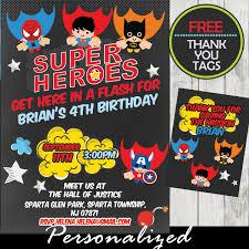 superhero birthday invitations images invitation design ideas