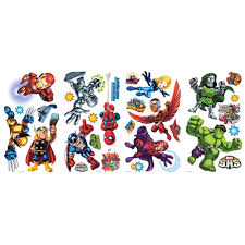 marvel super hero squad removable wall decals wall2wall