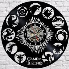 game of thrones 1 vinyl record wall clock unique design u2013 lampsillu