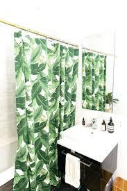 Botanical Shower Curtains Green Leaf Shower Curtain Hooks Shower Curtains Design