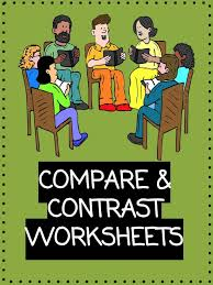 compare and contrast worksheets lesson plan pdf u0027s