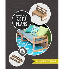 Free Diy Garden Furniture Plans by Free Diy Outdoor Sofa Plans Gray House Studio