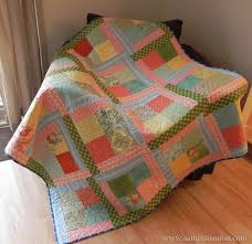 scrappy flora easy quilt tutorial allfreesewing