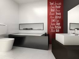 English Bathroom English French Bathroom Words Feature Wall Art
