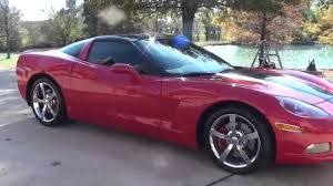 hd video 2009 chevrolet corvette 3lt victory red used for sale 6