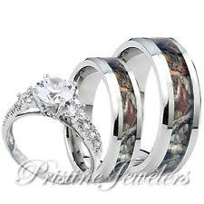 his and camo wedding rings sterling silver wedding ring sets ebay