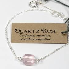 bracelet quartz rose images Bracelet en argent pierre de quartz rose du br sil bepositif jpg