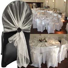 wedding chair covers and sashes 100 pcs 25 color new 65 275 chair cover sashes organza chair