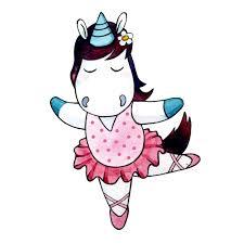iron on transfers with cute dancing ballerina unicorn bb033 wall apllikatation einhorn