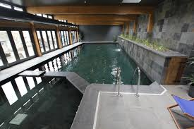 Impressive Nuance Mesmerizing Nuance Of Indoor Swimming Pool Decorated With Cool