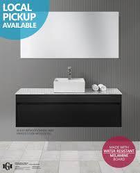 Cheap Bathroom Vanities Sydney Ibiza 1200mm Black Linewood Timber Wood Grain Wall Hung Bathroom