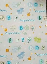 baby boy wrapping paper 2 sheets of quality thick baby boy wrapping paper baby