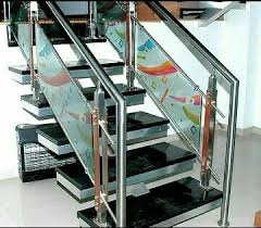 Fitting Banisters Stainless Steel Glass Railing Manufacturer From Ahmedabad