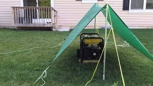 portable generator tarp shelter youtube