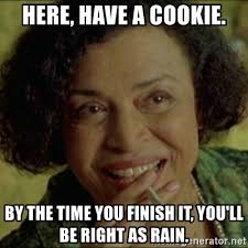 Finish It Meme - here have a cookie by the time you finish it you ll be right as