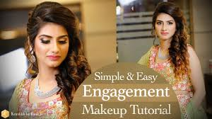 hairstyles for girl engagement engagement makeup tutorial simple and easy real bridal makeup