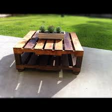 Outdoor Furniture Made From Wood Pallets Outdoor Table Made With 2 Free Pallets 4x4 Wood Legs From Lowe U0027s