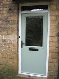 Cottage Doors Exterior Cottage Solid Composite Front Door In Chartwell Green With Black
