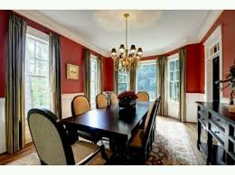Best Red Wall Images On Pinterest Red Walls Red Rooms And - Burnt orange dining room