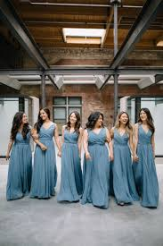 slate blue bridesmaid dresses chiffon bridesmaid dresses wedding and wedding dress