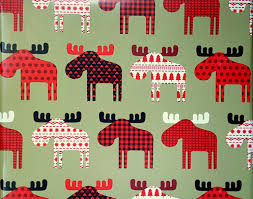 moose wrapping paper buffalo plaid moose reversible gift wrap rustic country christmas