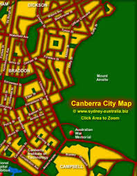 map with attractions canberra tourist map attractions act