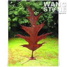 stainless steel garden ornament metal garden statues