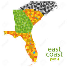Map Of East Coast Of Usa by Usa East Coast Map Part 4 Royalty Free Cliparts Vectors And