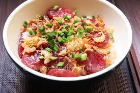 cuisiner des saucisses riz gluant aux saucisses chinoises cheong xôi lạp xưởng tôm khô